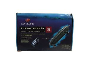 CORALIFE TURBO TWIST 6X UV STERILIZER - 18 WATT