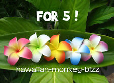 "NEW! ~ ""CURLED-IN PLUMERIA"" FOAM HAIR PICKS or CLIPS ~ FOR 5!"