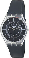 Swatch SFK361 Black Dial Black Rubber Strap Women's Watch