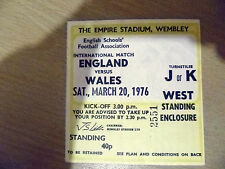 Tickets/ Stubs- 1976 British Championship ENGLAND v WALES, 20 March
