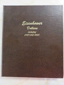 Dansco Album #8176 Eisenhower IKE Dollars Including Proofs 4 pages gently used