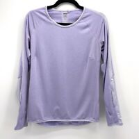 Title Nine Womens Small Lavender Stripe Thumbhole Long Sleeve Activewear Top