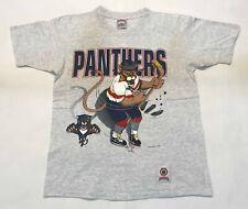 Vintage Nutmeg CCM NHL Florida Panthers Hockey T-Shirt Gray M Tee Canada