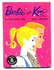 1961 Mattel Barbie and Ken Doll Fashion Booklet Japan Pink