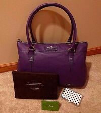 FREE Quik Ship ❀ KATE SPADE Berkshire Road ORCHID PURPLE Leather TEEGAN Tote NWT