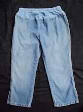 Pair of Motherhood Maternity Blue Jean Denim Capris Pants Size Small