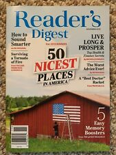 Reader's Digest Magazine November 2019       Readers Digest 50 Nicest Places NEW