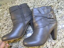 NEW STEVE MADDEN MADDEN GIRL PLAAZA BOOTS WOMENS 8.5 GREY ANKLE BOOTS FREE SHIP