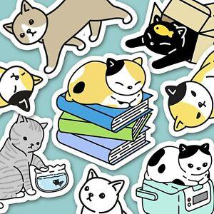 48 Cartoon Cat Kawaii Cat Stickers Journal Stickers, Cat Stickers [USA]