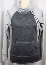 Fila Womens Gray Pullover Long Sleeve Kangaroo Pocket Thumb Hole Sweatshirt Size