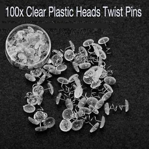 100PCS Headliner Twist Pins Kit For Upholstery Fabric Sofa Chair Repair Crafts