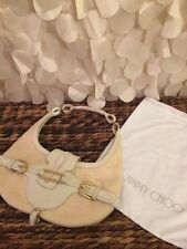 Authentic jimmy choo Cream/white leather talia shoulder bag hobo!!!