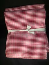 Pottery Barn Kids Gingham Sheet Set Full Red #1323