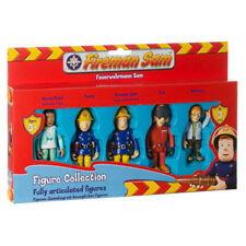 New Fireman Sam 5 Articulated Figures Sam Tom Nurse Flood Norman Penny Set