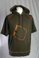 NIKE Rare Poncho Style Hoodie SS Chest Pocket Green Orange Men's Large V.G.C!