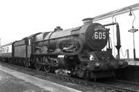 PHOTO BR British Railways Steam Locomotive Class 6000 6021 Exeter St Davids 1957
