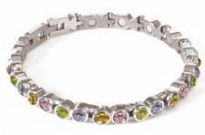 Bracelet magnétique Aurora strass multicolores