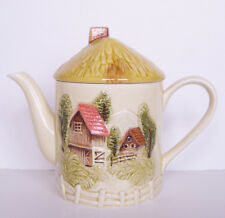Vintage Round Country House Teapot  - Made in Japan