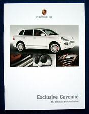 PROSPEKT BROCHURE PORSCHE Exclusive Cayenne (USA, 2008)