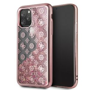 iPhone 11 Pro  HandyHülle Guess 4G Peony Glitter Cover Rosa