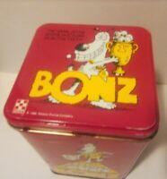 BONZ 1989 Purina Dog Canine Treats Sports Graphics Metal Tin