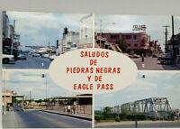Postcard Real Photo Eagle Pass,Texas American Customs 1967 International Bridge