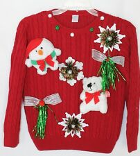 Created by Deb Rottum Ugly Tacky Christmas Sweater Girls Size M  7/8