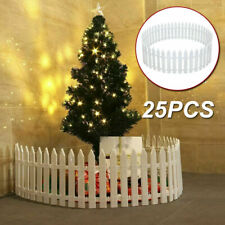 25PCS Picket Fence Garden Fencing Lawn Edging Home Yard Christmas Tree Fence UK