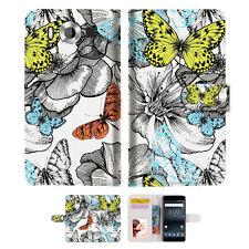 Butterfly Garden Wallet Case Cover For Nokia 6 2018 -- A018