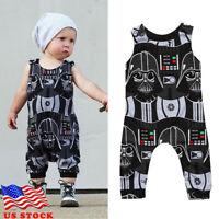 Newborn Infant Kids Baby Boys Star Wars Romper Bodysuit Jumpsuit Clothes Outfits