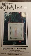 HOLLY HOUSE DESIGN ORNAMENT ANGEL CROSS STITCH PATTERN FREE SHIPPING