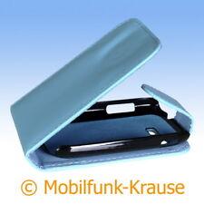 Flip Case Etui Handytasche Tasche Hülle f. Samsung GT-S3802W / S3802W (Türkis)