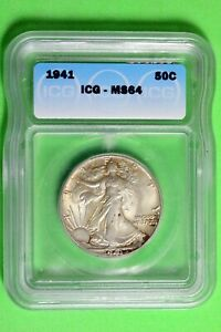 1941 ICG MS64 Walking Liberty Half Dollar #B26437