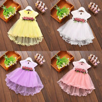 NEW Toddler Baby Girls Summer Floral Dress Princess Party Wedding Tulle Dresses
