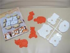 4 a trama grossa divertente animale 3D Goffratura IMPASTO & Formine per biscotti gatto Mouse Tartaruga Bear