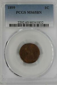 1899  .01  PCGS   MS65BN  Indian Head Cent, Indian Small Cent, One Cent
