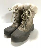 Columbia Womens Grey Beige Size 8 Sierra Summette Winter Boots