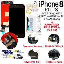 LCD DISPLAY PER APPLE IPHONE 8 PLUS NERO CON RETINA ORIGINALE TIANMA SCHERMO OEM