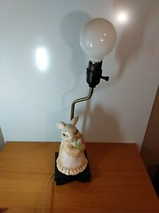 Vintage Bunny Rabbit Ceramic Lamp, stand up bunny rabbit