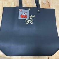Hello Kitty Sanrio Ladies Tote Bag Fake Leather Bag(Black) Lovely Cute Cool F/S