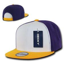 Purple Gold Yellow Vintage Blank Plain Solid Snapback Classic Flat Bill Hat Cap