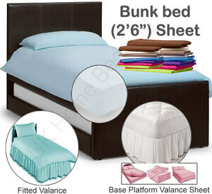 """Plain Dyed Fitted Sheet  2'6"""" 2ft6 2foot6 2feet6"""