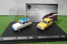 COFFRET RENAULT 4 JOGGING 1981 et 4 LA POSTE 1989 au 1/87 TRAIN HO voiture