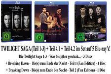 5 Blu-rays * DIE TWILIGHT SAGA - TEIL 1-3 + 4.1 + 4.2 IM SET # NEU OVP
