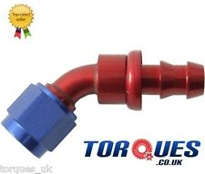 AN -4 (-4 JIC AN4 4AN) 45 Degree Push-On Fuel Hose Fitting
