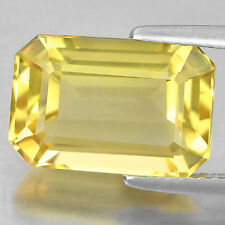 Emerald Shaped Transparent Loose Citrines