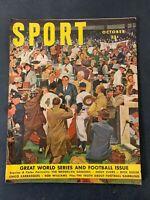 Vtg SPORT MAGAZINE OCTOBER 1950 BROOKLYN DODGERS & BOB WILLIAMS