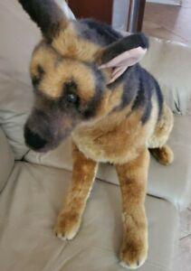 "RARE Melissa & Doug Life Size German Shepard 29"" Plush Toy Stuffed Animal Dog"