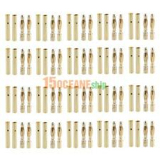 20Pairs 2mm Bullet Banana Plug Wire Connector Tool for RC Battery Gold Plated