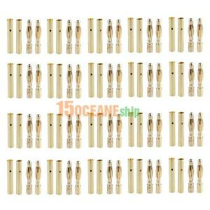 20 Pairs 2mm Bullet Banana Plug Wire Connector Tool for RC Battery Gold Plated